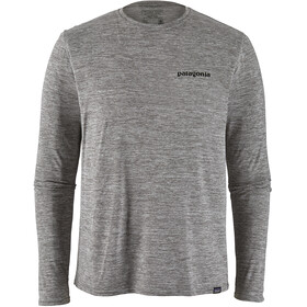 Patagonia M's Cap Cool Daily Graphic LS Shirt P-6 Logo/Feather Grey